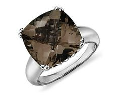 I really want this @Debbie Sweat..this is on my wishlist!! Smokey Quartz Cocktail Ring in Sterling Silver (13mm)