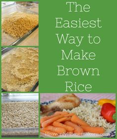 Truly, this is the easiest way to make brown rice. Try this oven method! You'll love it!