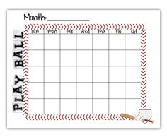 Ball Schedule Free Printable Baseball Mom Snacks Travel Little League