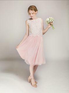 short tulle skirt in blush for bridesmaid swbd042