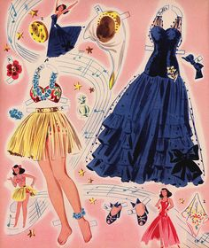 Rita Hayworth paper doll book 1942