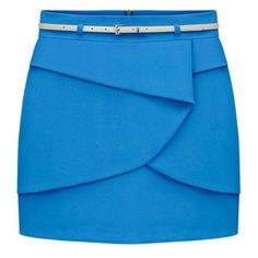 Blue Layer Chiffon skirt ($39) ❤ liked on Polyvore featuring skirts, double layer skirt, blue skirt, chiffon skirt, double layer chiffon skirt and layered skirt