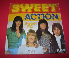 "THE SWEET ACTION (ACCION) SWEET F.A. VINYL 7"" RECORD GLAM HARD ROCK SPAIN PROMO #GlamHairMetal #thesweet #glamrock"