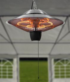 Firefly™ 1.5kW Ceiling Mounted Halogen Bulb Electric Infrared Patio Heater - Keep toasty warm inside a gazebo or under a porch