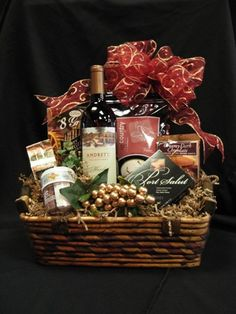 Its A Wonderful Life Gift Basket- Bread that this house may never know hunger; Salt that this house may always have flavor; Wine that joy and prosperity may reign forever Best Christmas Presents, Christmas Gift Baskets, Diy Gift Baskets, Its A Wonderful Life, Reign, House Warming, Wedding Decorations, Salt, Cooking Recipes