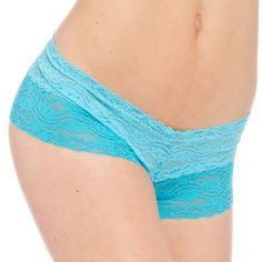 hese two-tone lace floral pattern underwear bring flirtiness to a whole new level in bright turquoise. The underwear are made of nylon with a cotton crotch for immense comfort. 2 Tone Floral Stretch L