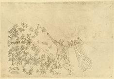 The Empyrean: Dante and Beatrice in the river of light  Creator: Botticelli, Sandro Date: c.1480-c.1495