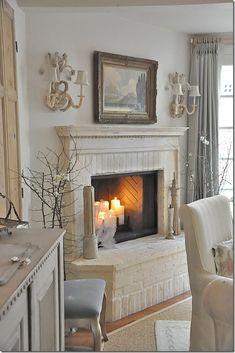 pretty interior in chalky cream and blue