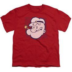 Popeye/Head Short Sleeve Youth 18/1 in