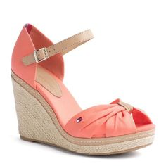 bbb86abe Ella Shoes, Tommy Hilfiger Store, Wedge Shoes, Wedge Sandals, Shoes Heels,