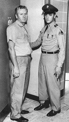 Elvis and Vernon Presley , picture taken the day Gladys Presley died