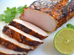 Chili Lime Pork Loin - I would use olive oil or canola oil and low sodium soy sauce