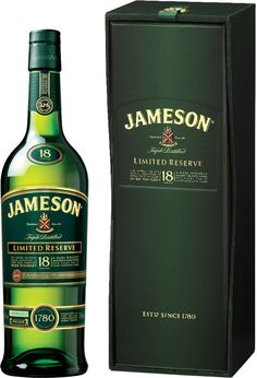 #Jameson 18 Year Old Limited Reserve Irish Whiskey.  A blend of whiskies aged in American bourbon barrels and European oak casks, before finally being finished in first fill bourbon barrels, this #whiskey earned a score of 95 points from Wine Enthusiast. | @Caskers