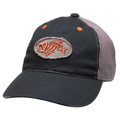 be3e2c79a8fbf G Loomis Distressed Oval Trucker Cap Fish Logo