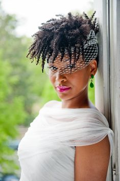 """There are so many natural hair options for brides and my goal is to continue to partner with natural hair care professionals to style shoots that will showcase the possibilities."" - Lerkia Lee-Tidball of MODAGE-style"