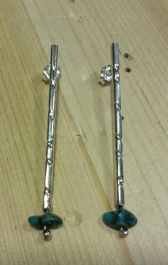 Pendientes de plata y turquesas/Silver and turquoise earrings   BARCELONA BY BETH ROMA