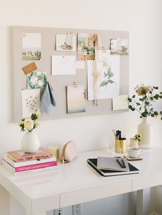 Looking for a simple, inexpensive DIY pinboard tutorial? Using corkboard and linen, our DIY pinboard is perfect for your office, kitchen, and more!