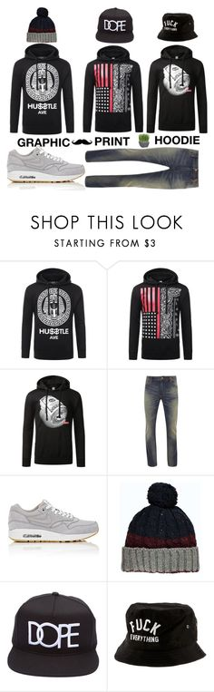 """""""URBANCREWS Mens Graphic Print Pullover Hoodie"""" by urbancleo ❤ liked on Polyvore featuring Superdry, NIKE, Kill Brand and Crate and Barrel"""