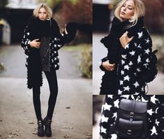 Zaful Faux Fur Coat, Grafea Backpack, Romwe Shirt, Jeffrey Campbell Boots