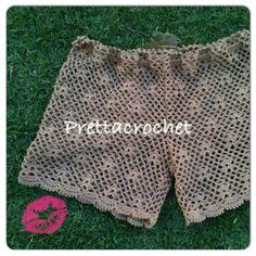 Pretta Crochet: Short de Crochet