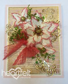 Heartfelt Creations | Cream Poinsettia Notes