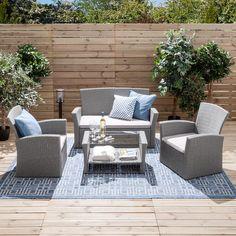 Sitzgruppe Kapolei – Webstoff / Polyrattan – Hellgrau / Grau Source by The post Sitzgrupp Outdoor Furniture Sets, Outdoor Decor, Home And Garden, Inspiration, Design, Home Decor, Garden Ideas, Products, Gardens