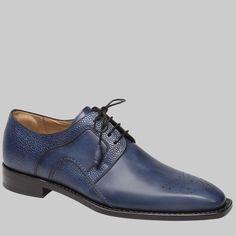 Mezlan Mens Shoes Saturno Blue Calfskin Oxfords 8255 (MZ2338)