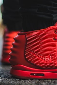 "Nike Air Yeezy II ""Red October"" #sneakers these are my dream shoes these cost thousands of dollars. #yeezys"
