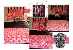 Hot Pink Dorm bedding by decor2urdoor | Olioboard #pink