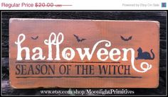 ON SALE Halloween Season Of The Witch Black by MoonlightPrimitives