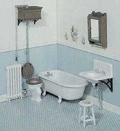 Dollhouse Miniature Bathroom Kit #CHR2111