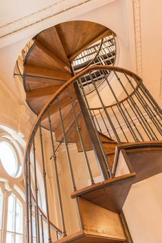 Staircase Crafted Paris Firm Heather Wells Phillippe Office Redesign Spiral Staircases Old Wood Antiquities Spirals