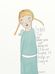 Items similar to Lean On Me Greeting Card Blank Note Card on Etsy Lean On Me, Wall Banner, Whimsical Art, Bride Gifts, Blank Cards, Customized Gifts, Note Cards, Greeting Cards, Notes