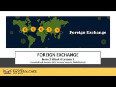 Gr 12 Tourism Foreign Exchange Lesson 1 - YouTube Foreign Exchange, Tourism, Education, Youtube, Turismo, Onderwijs, Learning, Youtubers, Travel