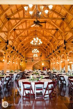 Reception in the barn.