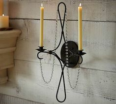 Crystal Candle Sconce #potterybarn Greenhouse Decor