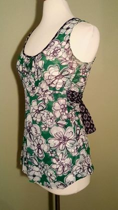 EUC Sweet Pea Stacy Frati Sleeveless Floral Green Multi-Color Top Small S   | Clothing, Shoes & Accessories, Women's Clothing, Tops & Blouses | eBay!