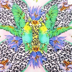 From Matthew Williamson's DNA collection of square silk scarves_  details_ http://www.lilogi.com/brand/matthew-williamson/blossom-dna.html