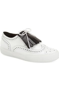 Robert Clergerie 'Tolka' Kiltie Sneaker (Women) available at #Nordstrom
