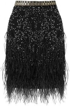 Matthew Williamson: Feather-trimmed embellished tulle mini skirt $2,795 net-a-porter