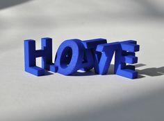 FontFlip LOVE-HATE 3d printed
