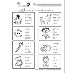Fichier PDF téléchargeable En noir et blanc 1 page Niveau 1re année  Dans cet exercice, l