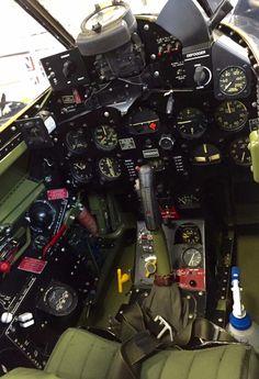"Cockpit of F8F-2A Bearcat ""Wampus Cat"" BuNo. 121752."