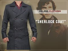 Sherlock Holmes Coat is made to enhance your personality with the touch of detective look. Have this Benedict Cumberbatch Holmes Coat in your wardrobe. Sherlock Holmes Costume, Sherlock Coat, Double Breasted Suit, Benedict Cumberbatch, Suit Jacket, Suits, Jackets, Clothes, Down Jackets
