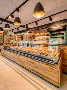 Bakery Shop Interior, Bakery Shop Design, Coffee Shop Interior Design, Coffee Shop Design, Cafe Design, Restaurant Design, Modern Bakery, Rustic Bakery, Bakery Decor