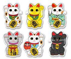 Hey, I found this really awesome Etsy listing at https://www.etsy.com/au/listing/400284115/6pc-lucky-cat-maneki-neko-vinyl-sticker