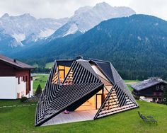 Located in the mountainous Italian village of Sesto, Plasma Studio's Alma Residence and boutique hotel boasts an extraordinary timber skin that is both sculptural and functional. The skin wraps around an addition to the six-room hotel, providing sheltered outdoor space.  Read more: Extraordinary Timber Skin Wraps Around Alma Hotel in Italy's Dolomites   Inhabitat - Sustainable Design Innovation, Eco Architecture, Green Building
