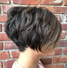 Choppy Brunette Pixie Bob for Thick Tresses Edgy Pixie Cuts, Pixie Cut Styles, Long Pixie Cuts, Short Hair Cuts, Short Hair Styles, Thick Short Hair, Short Pixie Bob, Thick Coarse Hair, Pixie Haircut For Thick Hair