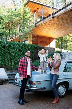 Tour the modern Nashville home of Kings of Leon's Nathan Followill and his wife, Jessie Baylin, fuses rock and roll with real life. (Photo by Caroline Allison)