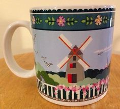 Sakura Nantucket Claire Murrays Windmill Coffee Mug Colorful !